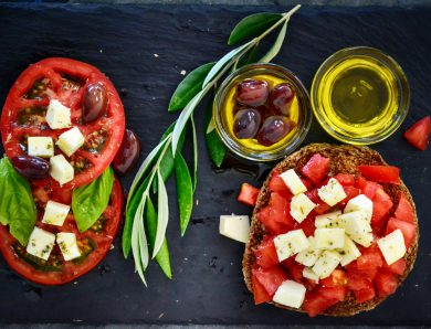Dakos tomato  olive  branch leaves nothing more